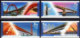 Russia 2008 Bridges Architecture Moscow Kimry St-Petersburg Surgut Bridge Geography Places Stamps MNH Michel 1512-1515 - 1992-.... Federation