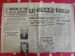 Journal Le Grand Echo Du Midi Du 27 Avril 1942. Luftwaffe Nippons En Birmanie Pierre Laval Rationnement Guerre - Journaux - Quotidiens