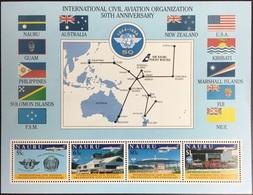 Nauru 1994 ICAO Anniversary Aviation Aircraft Minisheet MNH - Nauru