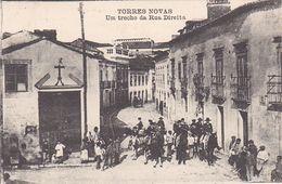Portugal -Torres Novas  - Um Trecho Da Rua Direita - Santarem