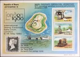 Nauru 1980 London'80 Minisheet MNH - Nauru