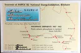 Nauru 1980 Anpex Ships Minisheet MNH - Nauru