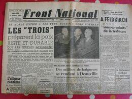 Journal Front National Du 17 Juillet 1945. Milice Luchaire Déat Feldkirch Bombardement Japon Chateaubriant Laval - Journaux - Quotidiens
