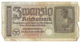 Billet De 20 Reichsmark   - époque Du NSDAP - [ 4] 1933-1945 : Terzo  Reich