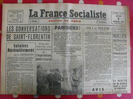 Journal La France Socialiste Du 4 Décembre 1941. Pétain Goering Avis Allemands Attentat Terroriste Représailles Aimos - Journaux - Quotidiens