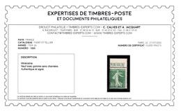 YV 188A N** Luxe , Signé CALVES + Certificat , Semeuse Mineraline Fraicheur Postale Cote 725+ Euros - France