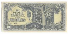 Billet De 10 Dollars   - Occupation Japonaise 1940-45 - Japon