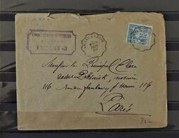 07 - 20 - France 15c Sage Sur Lettre Oblitéré Ambulant Amiens à Crépy - 28 Juil 1888 - Marcophilie (Lettres)