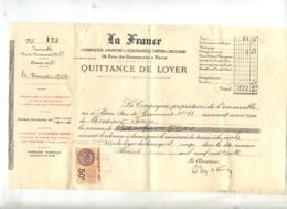 3 Suittance De Loyer Assurance La France Paris Timbre Fiscal - France