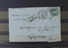 07 - 20 - France - Lettre De Valence à Destination De Gignac - Hérault  - 3 Oct 1867 - 1863-1870 Napoléon III Lauré