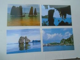 D172836 VIET NAM  Vietnam   HA LONG Bay  Lot Of 4 Postcard - Ohne Zuordnung