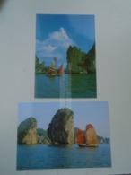 D172837 VIET NAM  Vietnam   HA LONG Bay  Lot Of 2 Postcard - Ohne Zuordnung