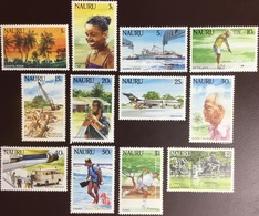 Nauru 1984 Tourism Definitives Set Aircraft MNH - Nauru