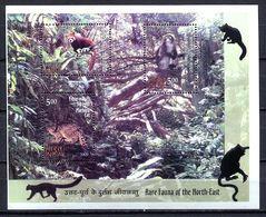 India 2009 / Rare Fauna Mammals MNH Säugetiere Mamíferos / Cu3023  38-48 - Timbres