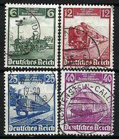 ALLEMAGNE 1935: La Série Complète Y&T 539-542 Obl. CAD - Usati