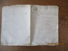 CONSERVATION DES HYPOTHEQUES DE LAON LE 20 AVRIL 1818 ETAT DE TOUTES LES INSCRIPTIONS HYPOTHECAIRE EXISTANTES SUR LE SIE - Manoscritti