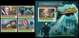 NIGER 2020 - J. Verne, Diving, 4v + S/S Official Issue [NIG200123] - Diving
