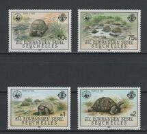 (S1840) SEYCHELLES - ZIL ELWANNYEN SESEL, 1985 (WWF. Giant Tortoise) Complete Set. Mi ## 104-107. MNH** - Seychelles (1976-...)