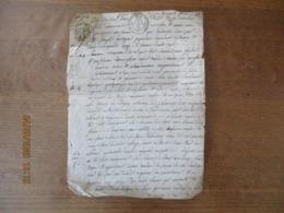 20 AVRIL 1818 VENTE PAR LOUIS FAUDIER MARCHAND DE TOILLE A MORGNY ET MARIE ANNE GUILLOUART SA FEMME A JOSEPH GUILLOUART - Manoscritti