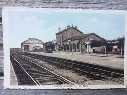 CPA ROEUX. La Gare - France