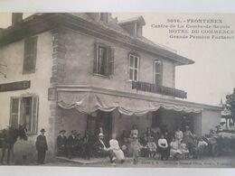 Carte Postale De Frontenex, Centre De La Combe De Savoie, Hôtel Du Commerce, Grande Pension Fontanet. Belle Animation - Andere Gemeenten