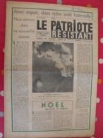 Journal Le Patriote Résistant N° 67 Du 24 Décembre 1948. Résistants Internés Déportés Buchenwald Résistance - Journaux - Quotidiens