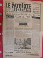 Journal Le Patriote Résistant N° 72 Du 14 Mars 1949. Résistants Internés Déportés Buchenwald Résistance - Journaux - Quotidiens