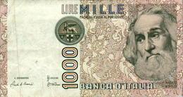 Billet De Banque Italien Italie 1000 Lire CC 682585 F Marco Polo Année 1982 B.Etat - [ 2] 1946-… : Repubblica