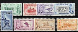 Falkland Islands - Mint With Traces Of Hinge Remains - KG VI, Part Set, 1952 - Falklandinseln