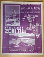 1924 Carburateur Zénith - Publicité - Publicidad