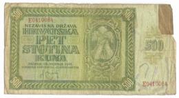 Billet De 500 Kuna   - Croatie  1941 - Croatia
