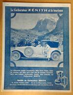 1924 Le Carburateur Zénith Et Le Tourisme (Miss Pearl White...) - Publicité - Publicidad