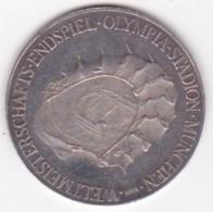 Medaille En Argent (999,9) Fussball Weltmeisterschaft 1974 München Coupe Du Monde Football Munich - Deutschland
