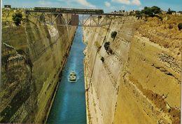 CPM Grèce, Corinthe, L'isthme (bateau, Train) - Postales