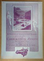 1924 Carburateur Zénith Le Tourisme En Montagne... - Publicité - Publicidad