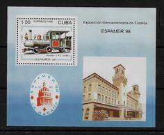 CUBA 1996. HB EXPOSICIÓN IBEROAMERICANA ESPAMER 98. MNH. EDIFIL 4143 - Nuevos