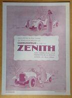 1925 Carburateur Zénith D'après Géo Gaumet - Publicité - Publicidad