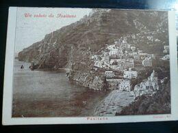 Positano Salerno Un Saluto.. Usata 1948 Ediz.Bideri - Italia