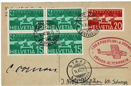 "1932, "" 1. DOX - POSTFLUG I. D. Schweiz "",  2780 - Posta Aerea"