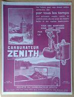 1926 Carburateur Zénith - Publicité - Publicidad