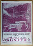 1926 Carburateur Zénith D'après Ato - Publicité - Publicidad