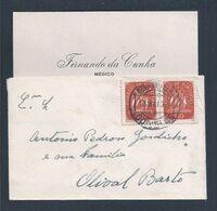 Carta Circulada De Odivelas 1943. Olival De Basto. Stamps Caravela. Circulated Letter From Odivelas 1943. - 1910-... République