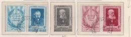 BELGIUM USED COB 898/99 LITTERATEURS BELGES - Belgium