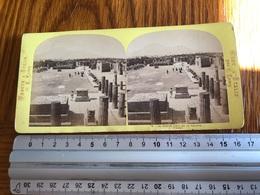 Stereo Photo Vers 1880 Vedute D'Italia  - Le Vesuve A Pompéi - Photographie