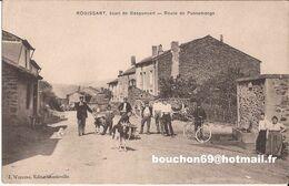 08 Rogissart Ecart De Gespunsart (charleville Mezieres Villers Semeuse) Route De Pussemange  Berger Goat Chevres RARE - Ohne Zuordnung