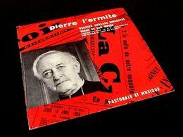 Rare Vinyle 45 Tours  Pierre L' Ermite  Dernier Message Enregistré Image De Son Oeuvre - Vinyl Records