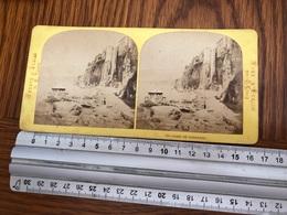 Stereo Photo Vers 1880 Vedute D'Italia  -  Plage De Sorrente - Sorrento - Photographie