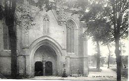 CPA / AK / PK  -  NIEUPORT-VILLE   Le Portail De L'église ( Feldpost Marine ) - Nieuwpoort