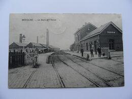 MORIALME  La GARE Station Du Train Et Usine. Postée 1913. Prés De Fraire, Florennes Et Saint-Aubin. - Belgium