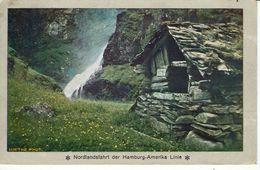 NORGE-NORWAY-NORVEGE-NORDLANDSFAHRT DER HAMBURG-AMERIKA LINIE-WASSERFALT BEI STALHEIM - Postales
